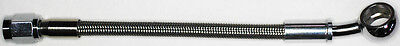 "AN-3  14"" long, stainless steel braid hose, ST X 20ø banjo 7/16""  NC"