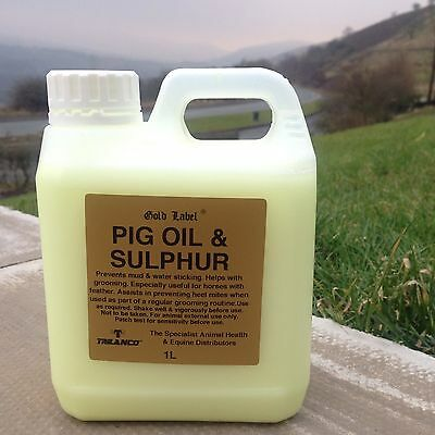 PIG OIL AND SULPHUR GOLD LABEL 1 Lt Horse and Pony