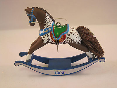 Hallmark Rocking Horse Ornament #12 1992 Collectors Series In Box