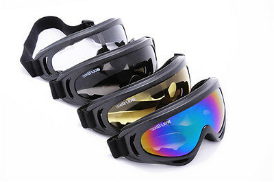 Tinted motocross goggles anti-fog UV protection MX dirt trail ATV bike