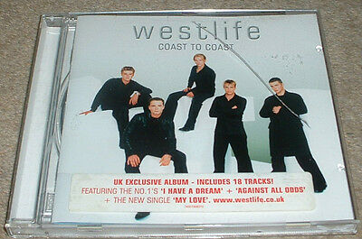 Westlife Coast to Coast CD featuring I Have a Dream & Against All Odds