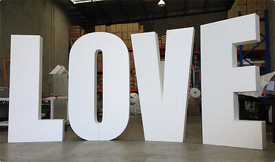 3D Big LOVE  / Giant LOVE / Styrofoam Wedding Sign Letters - 110cm high