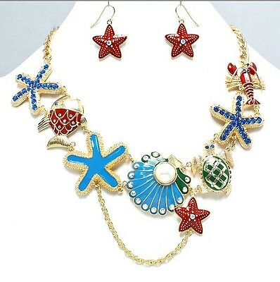 IN THE PARK JEWELS OF THE SEA EXCURSION STARFISH SEATURTLE NECKLACE JEWELRY LANE