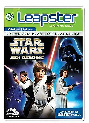 Star Wars Jedi Reading Leap Frog Leapster Learning Game 2009 New 5-8 yrs K-2nd
