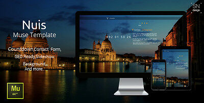 Website HTML - Nuis Muse Template - Coming Soon One Page