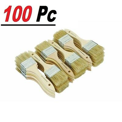 "100 Chip Brush Brushes Perfect Adhesives Paint Touchups Sizes 0.5"" 1"" 1.5"" 2"" 3"""