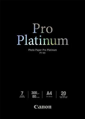 Canon PT-101 (A4) 300gsm Pro Platinum Photo Paper (Pack of 20 Sheets)