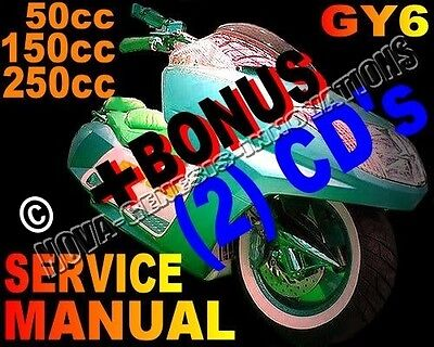 Scooter 150cc-250cc GY6 Service Repair Manual Chinese