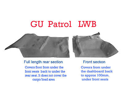 To suit Nissan GU Patrol Y61 Moulded Rubber Vinyl Flooring Front and Rear