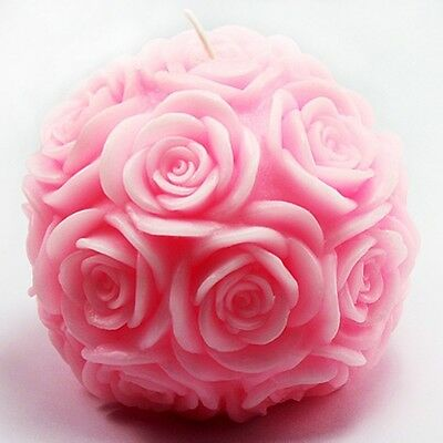 LZ0092 handmade rose flower silicone candle mold crafts silicone soap resin mold