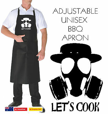 Funny Apron Let's cook Breaking bad Great quality pocket  bbq kitchen  UNISEX