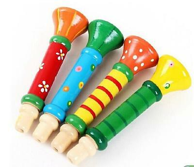 TIAU  Baby Kid Children Wooden Musical Instrument Trumpet Hooter Bugle Suona Toy