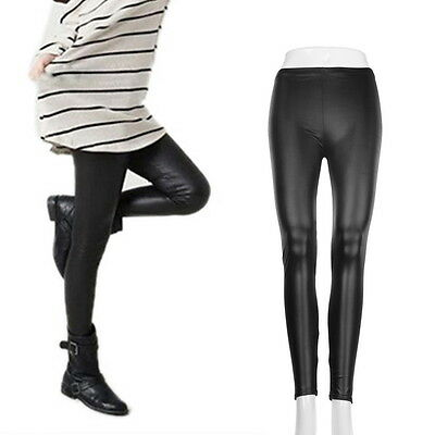 Fashion Style Tights Women Sexy Wet Look Shiny Faux Leather Leggings Pants KK