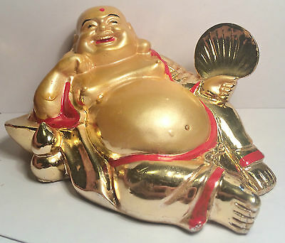 Humorous Lucky Buddha (Feng Shui) Figurine, Bring harmony to your Home. (D)