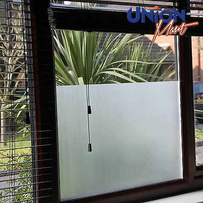 "Plain Frost Opaque Privacy  Mirror Solar  Window Tint Film  ""No Bubbles"""