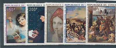 Congo (Brazzaville) 1970 Air. Paintings set of 5