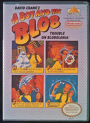 A Boy and His Blob NES Quality Custom Case with Artwork
