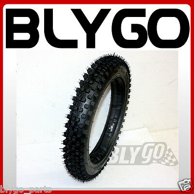 """GL 2.50-12 60/100- 12"""" inch Front Knobby Tyre Tire +Tube PIT PRO Trail Dirt Bike"""
