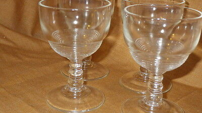 Vintage Manhattan pattern Sherry Cordial Glasses 4 1960's  Mint condition