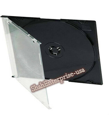 100 New single Slim CD/DVD/VCD Jewel cases 5.2mm, Great Quality you would Love