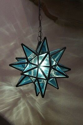 "Moravian 11.5""  blue topaz star  WITH canopy"