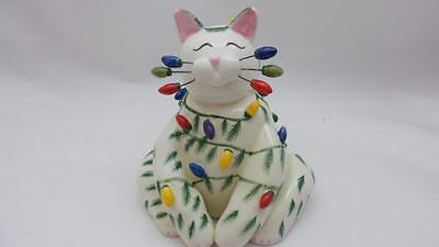 Amy Lacombe Cat Figurine #14600 Christmas Cat 2006 Whimsiclay