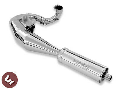 VESPA TSR-LEFT-HOOK Stainless Steel Tuning Exhaust PX/LML 125/150/166 revolver