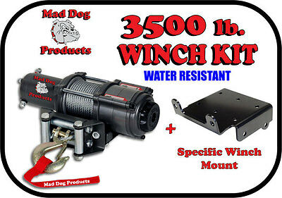 3500lb Mad Dog Winch Mount Combo Honda 2014-2017 700 and 700-4 Pioneer