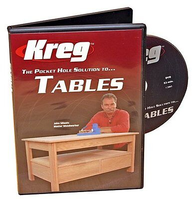 Kreg V05-DVD Pocket Hole Joinery DVD, Building Tables , New, Free Shipping