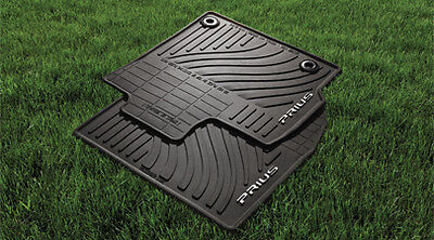 2012 2013 2014 2015 PRIUS FLOOR MATS RUBBER ALL WEATHER TOYOTA OEM 4PC SET NEW