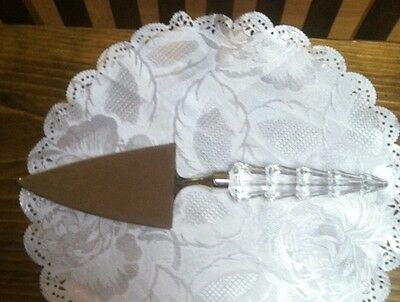 Mikasa TREE SHAPPED  Cake or Pie Server Glass Handle FROM AUSTRIA
