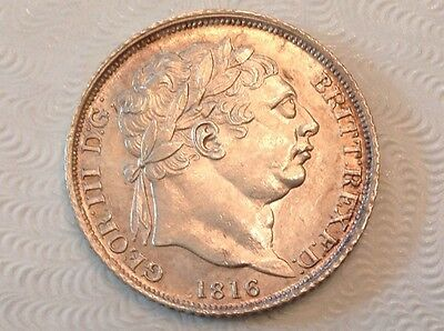 - 1816 Great Britain Sixpence 6 Pence George III Choice uncirculated