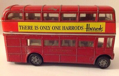 Harrods Double Decker Bus Knightsbridge London Tranport Die Case Red West End 5""