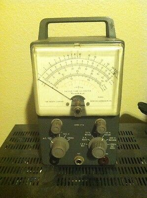 vintage Vacuum Tube Volt Meter The Heath Company Model V-7A Made USA by Weston