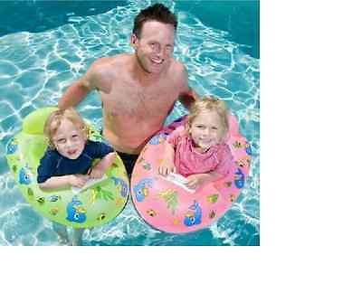 Airtime Inflatable Dolphin Design Baby Pool Seat, Inflatable Baby Pool Seat