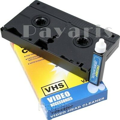 New Head Cleaning Video Tape Cassette For VHS VCR Player & Recorder Wet Cleaner