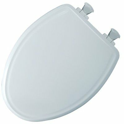 Mayfair 148E2 000 Slow-Close Molded Wood Toilet Seat with Lift-Off Hinges, Elong