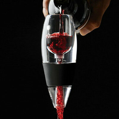 1xMini Acrylic Red Wine Essential Magic Quick Aerator Filter Pour Spout Decanter