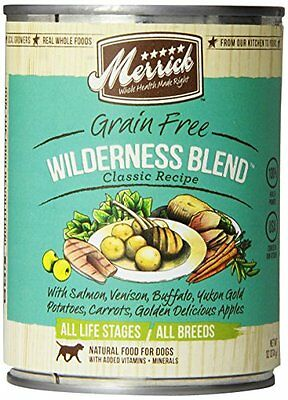 Merrick Wilderness Blend Dog Food 13.2 oz , 12 Count , New, Free Shipping