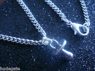 """10 Silver Plated 18"""" Necklaces & Baby Dummy Pendants Wholesale Jewellery Job Lot"""