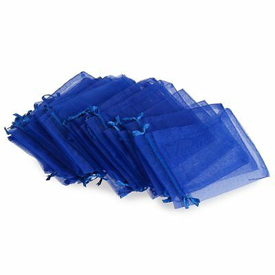 FP Wholesale 24PCS Candy Gift Bag Pouch Wedding Party Royal Blue Gauze Hot