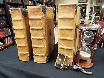 1480 Magnificent Incunable  - 3 Vols- Glossed Bible  -Ex. Large Folios-complete