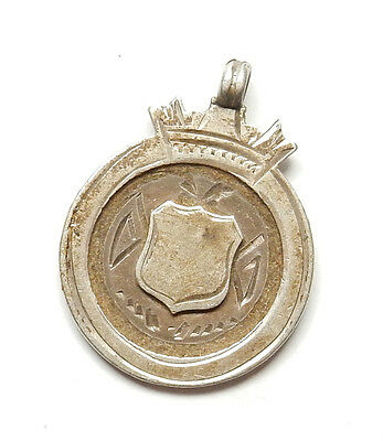 Antique George V Birmingham 1915 Sterling Silver ALBERT WATCH FOB MEDAL 6.3g