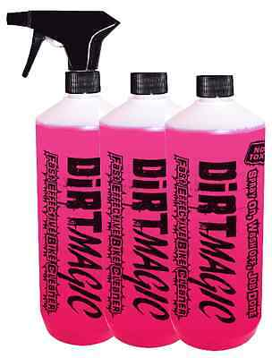 3 Pack Dirt Magic Motorcycle Bike Car Motocross Cleaner Wash Gets The Muck Off