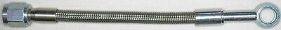 "AN-4  12"" long, stainless steel braid hose, ST X ST banjo 3/8""-10M  NC"