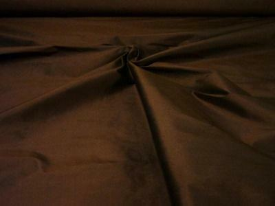 "Pure Silk Dupion `Dreams` 54"" Wide Chocolate cut from roll half metre price"