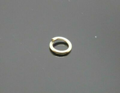 1 x 9ct gold open jump rings 5mm, o ring jewellery making ring repair