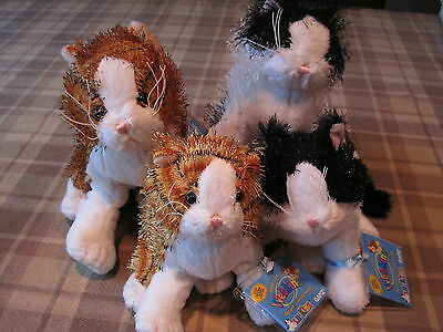 Two Sets Webkinz & Lil Kinz Alley Cat & Black & White Cat NWTS SEALED CODES