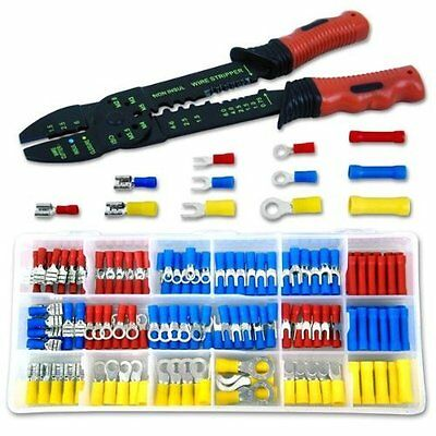 Neiko 50413A Solderless Wire Terminal and Connection Kit with Crimping/Wire Stri