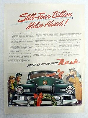 1940s NASH AUTOMOBILE ONE PAGE AD